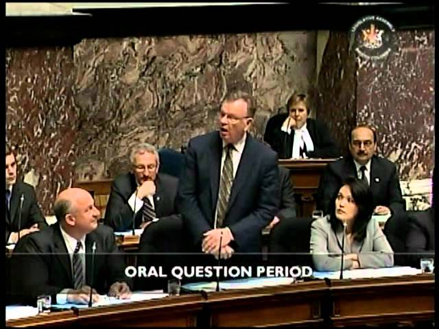 May 26, 2011 BC Legislature Question Period