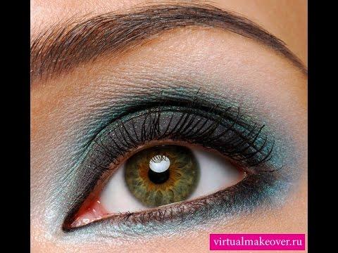 Макияж глаз каре-зеленых глаз