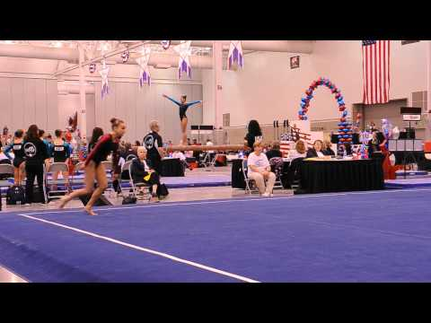 Emily Brauckmuller Orlando Metro Junior Olympics Nationals 2012 Level 10 Floor Routine