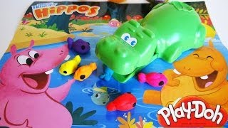 Play-Doh Hungry Hungry Hippos Playset Unboxing