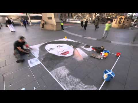 Regina Spektor - All the Rowboats Street Chalking