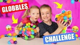 DE GLOBBLES CHALLENGE!! [Heel Veel Lol Met Kleverige Balletjes] ♥DeZoeteZusjes♥