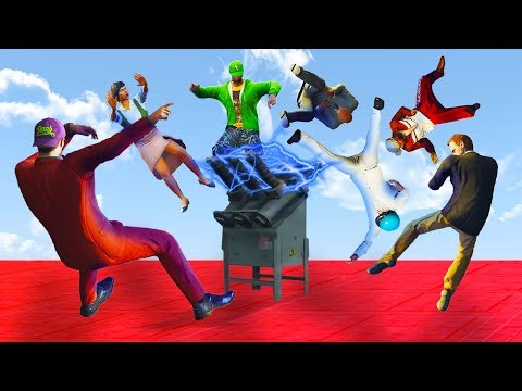 DODGE THE ELECTRIC DEATHRUN OR FAIL! (GTA 5 Funny Moments)
