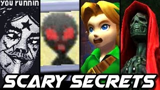 Top 10 CREEPY SECRETS in Nintendo Games (3DS, Wii, N64)