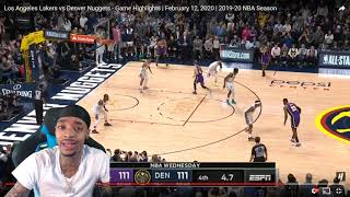 LBJ IS NOT CLUTCH... TRIPLE-DOUBLE! FlightReacts Lakers vs Nuggets - Game Highlights 2020