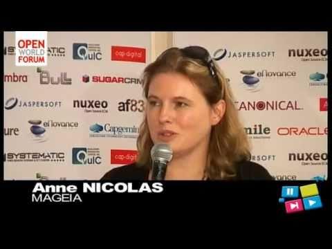 [SUBTITLE en/pt] Anne Nicolas fala sobre Mageia Linux, no Open World Forum, Paris 2010