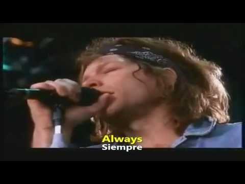 Bon Jovi - Always Hd - Español   Inglés video