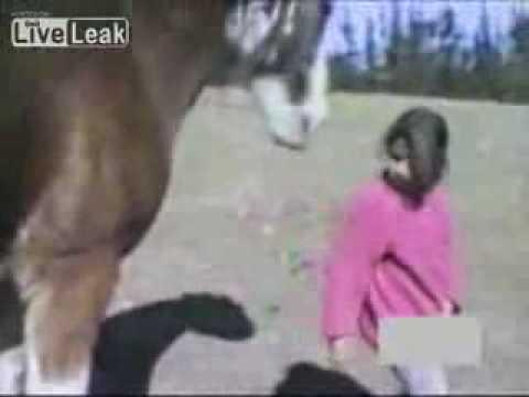 Girl Horses Horse Bites Girls Hair