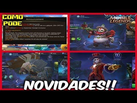 Mobile Legends -  Novidades da Att + Rework do Akai + Nota da atualização!! 25.08.2017