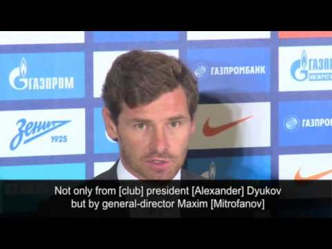 André Villas-Boas presented as new Zenit St Petersburg manager
