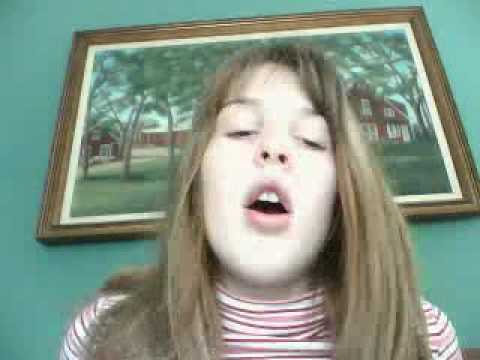 Pretty 12 year old girl singing Maybe this time from glee ...
