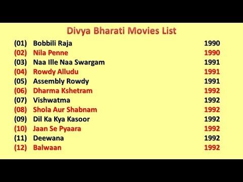 Divya Bharti Movies List