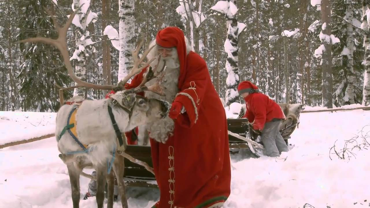 Santa Claus Reindeer Ride - Lapland Finland - Father Christmas ...