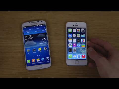 Samsung Galaxy S4 Android 4.4 KitKat vs. iPhone 5S iOS 7.1 Final - Which Is Faster?