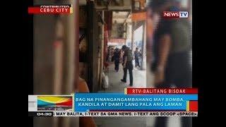 BP: Bag na pinangangambahang may bomba, kandila at damit lang pala ang laman