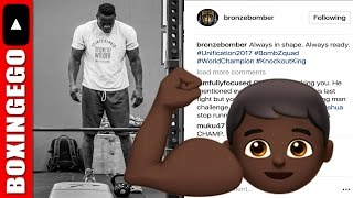 "DEONTAY WILDER ""KNOCKOUT KING"" LOOKS HUGE: ""ALWAYS IN SHAPE! ALWAYS READY"" BRONZE BOMBER SAYS"