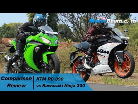 KTM RC 390 vs Kawasaki Ninja 300 - Comparison Review   MotorBeam
