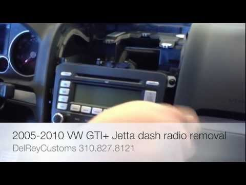 How to remove radio VW JETTA GTI R32 2005-2010 stereo repair diy