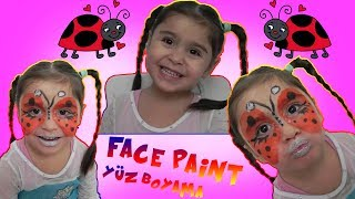 LADYBUG FACE PAINT | UĞUR BÖÇEYİ YÜZ BOYAMASI | eğlenceli çocuk videoları