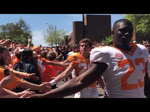 SEC Country/Mike Griffith Tennessee Vol Walk, spring scrimmage