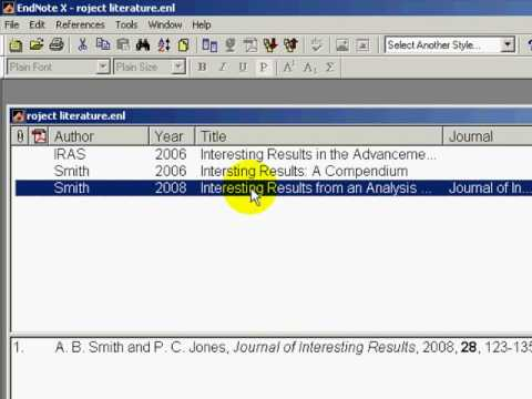 how to get endnote references into word