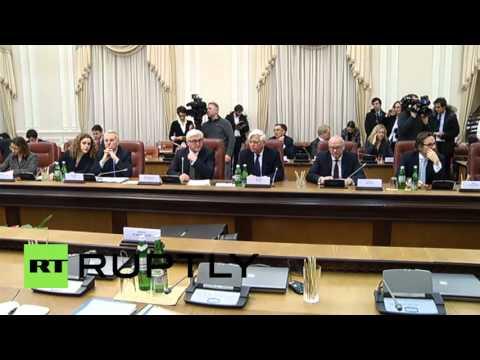 Ukraine: Yatsenyuk urges Ukraine-EU unity to implement Minsk agreement