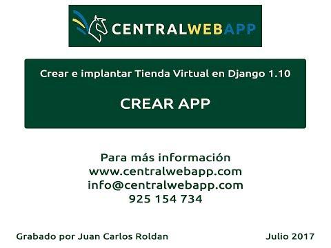 Tienda Virtual - Django 1.10 - CREAR APP