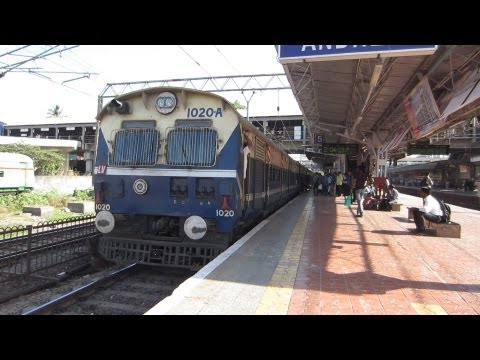 First time Dahanu MEMU train in Mumbai which is dominated by...