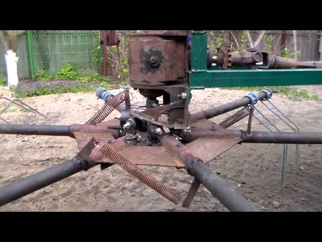 Самодельный грабли на трактор
