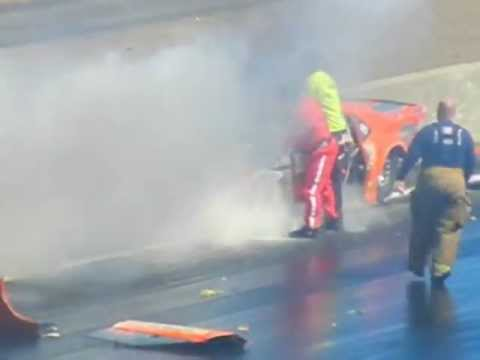 ADRL Pro Extreme wreck at Rockingham 3/9/2013