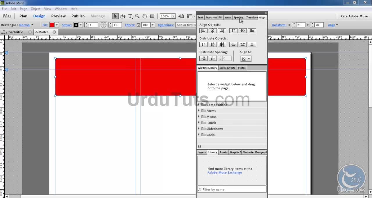 Adobe Muse Interface Adobe Muse cc Interface Urdu