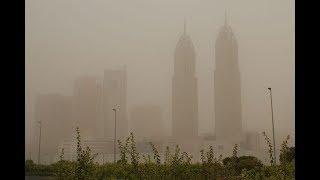 Sandstorm in Dubai | Dubai Weather - July/August 2018 | Jumeirah Beach & Sheikh Zayed Road Al Quoz