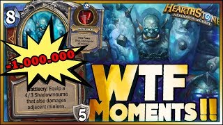 Hearthstone - Frozen Throne WTF Moments - 1.000.000 DAMAGE HERO - Funny and lucky Rng Moments