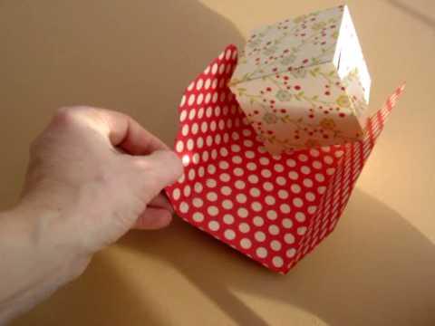 Выпрыгивающий кубик своими руками