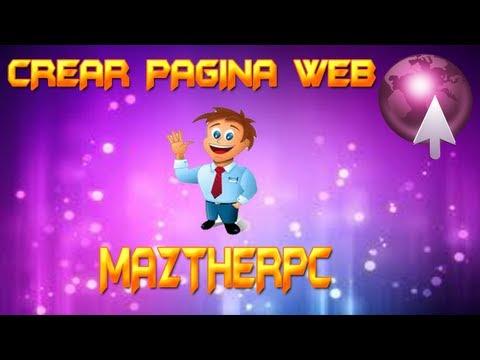 Como crear una pagina web 2013