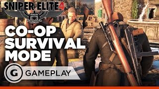 Sniper Elite 4 - 4 Player Coop Survival Mode Gameplay