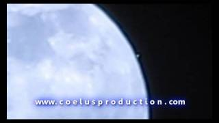 Moon satellite in the atmosphere