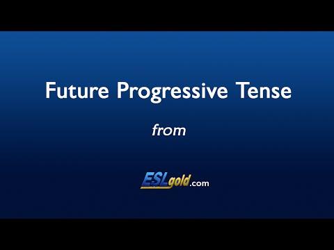 ESLgold.com Future Progressive Tense Video