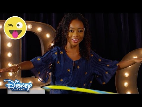 Hula Hoop Challenge | Skai Jackson | Official Disney Channel UK