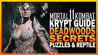 Mortal Kombat 11 Krypt Guide Part 4 - Deadwood Secrets, Puzzles & Reptile