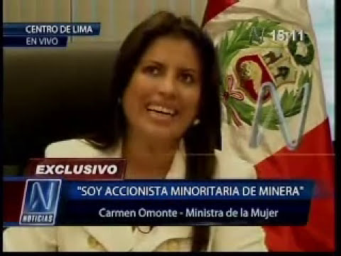 Ministra de la Mujer Carmen Omonte responde a denuncias en su contra (Canal 8)