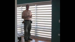Demonstrating the Hunter Douglas Pirouette Shade