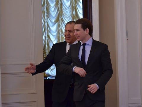 Переговоры С.Лаврова и С.Курца | Sergey Lavrov - Sebastian Kurz talks