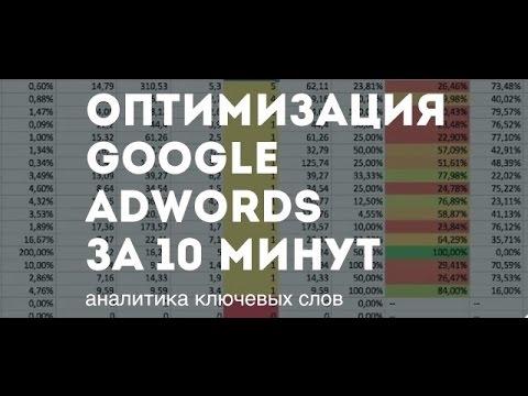 Оптимизация AdWords за 10 минут: аналитика ключевых слов