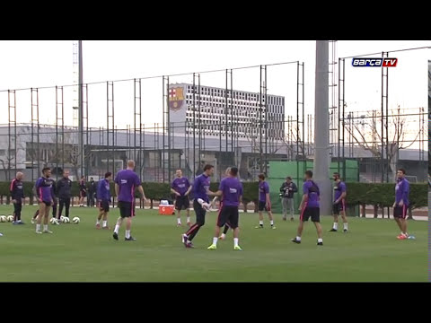 Training session (30/03/15): Back to work without international players