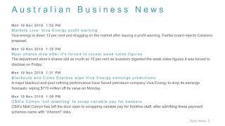 Business News Headlines for 19 Nov 2018 - 6 PM Edition