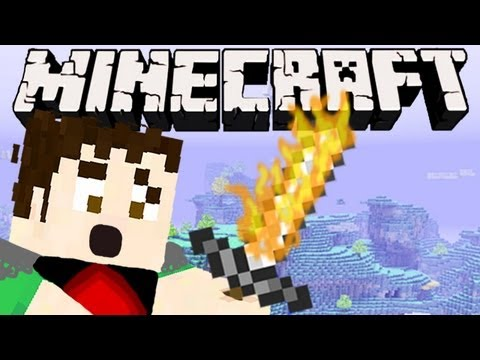 Minecraft - FLAMING SWORD