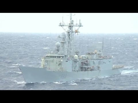 CNN travels on warship targeting human traffickers