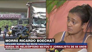 Testemunha relata como foi acidente com Ricardo Boechat