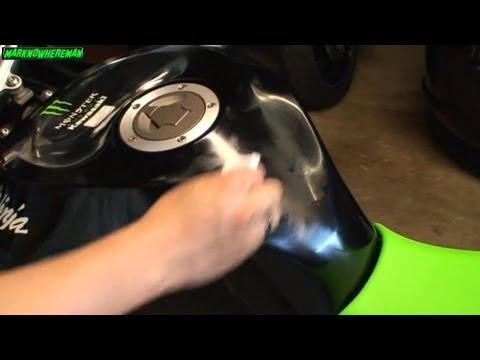 The effective SCRATCH REMOVER - Kawasaki NINJA ZX6R